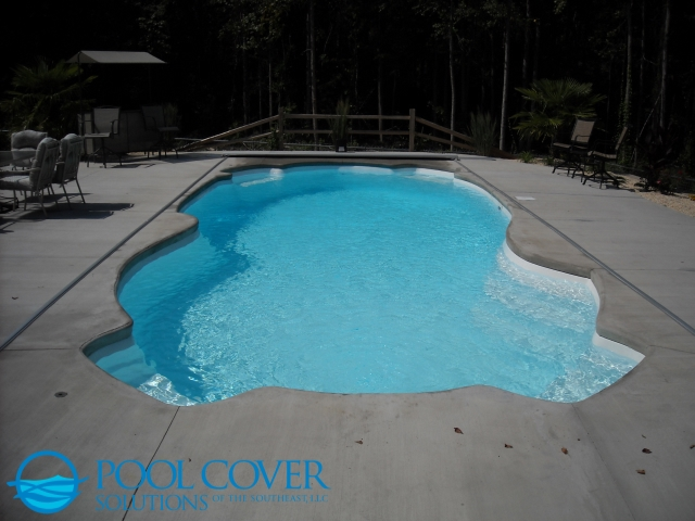 Awendaw SC Automatic Safety Cover on Elaborate Pool Shape