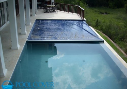 Charleston SC Automatic Pool Cover on Elevated Pool with Infinity Edge