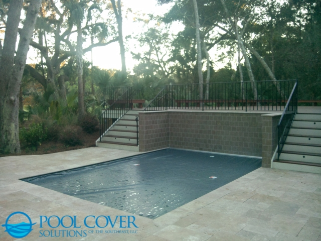 Charleston SC Safety Pool Cover no fence on golfcourse