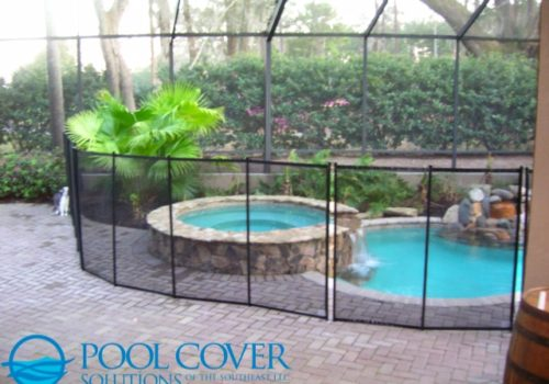 Coastal Ga Mesh Pool Safety Fence In Enclosed Pool Pool Cover