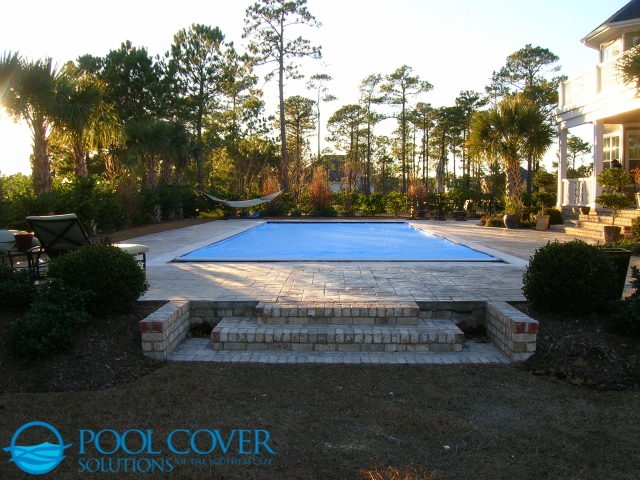 Kiawah Island SC Automatic Safety Cover on Grecian Pool with spa (1)