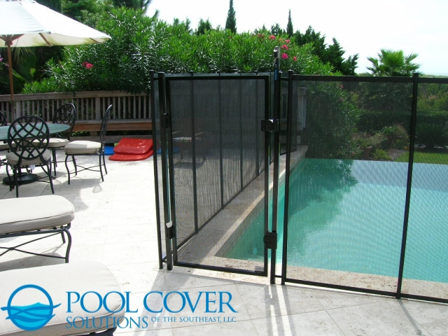 Kiawah Island SC Mesh Safety Fence with gate
