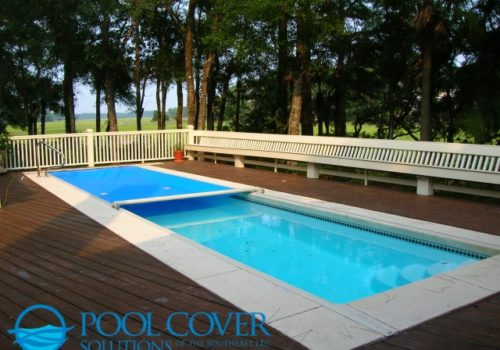 Kiawah SC Safety Pool Cover Automatic with wood deck