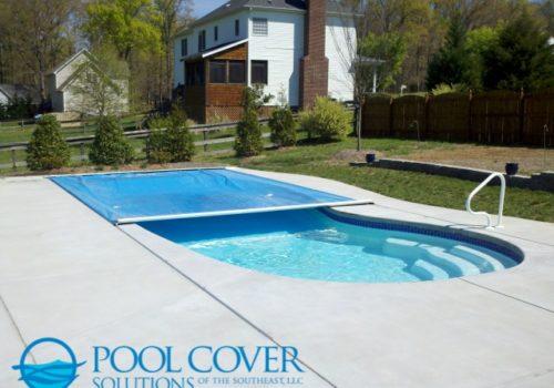 Lexington SC Safety Pool Cover Kidney Shape Pool