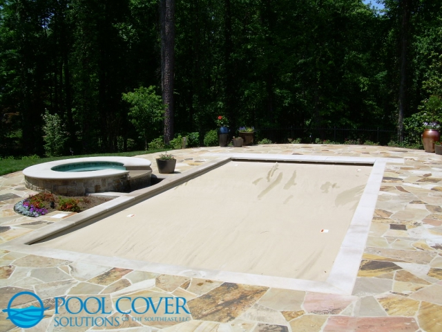 Charlotte NC Automatic Pool Cover with Spill Over Spa