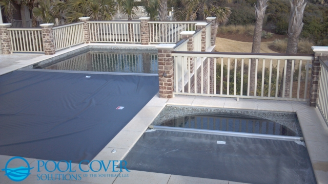 Kiawah Island SC Automatic Pool and Spa Cover with Pool House