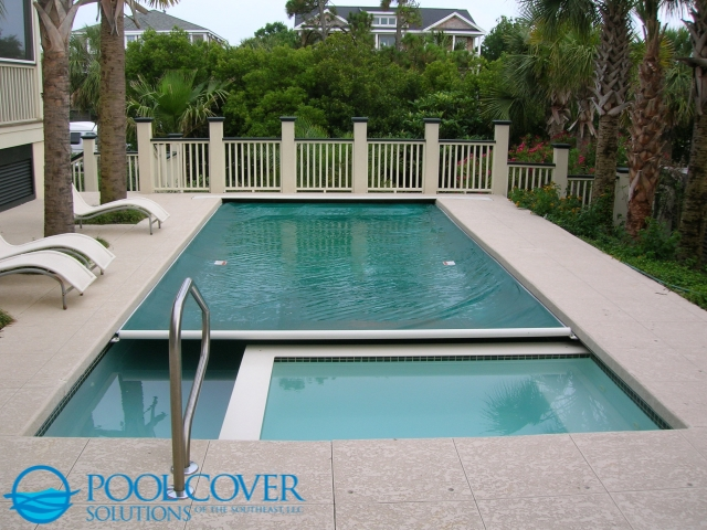 Sullivans Island SC Automatic Safety Pool Cover with in step spa